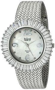 【送料無料】バールクオーツアナログburgi bur076wt orologio da polso al quarzo, analogico, donna, metallo, b1x
