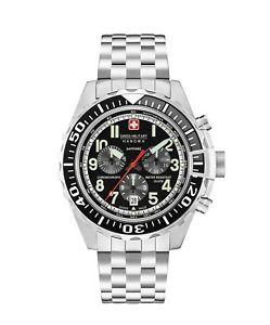 【送料無料】スイスアナログウォッチマンクロノグラフスチールストラップswiss military orologio uomo analogico cronografo cinturino acciaio 6530404007