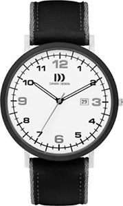 レザーストラップカラーmamp;ms dz120405  orologio da polso da uomo, cinturino in pelle colore nero