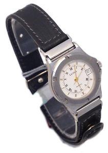 【送料無料】ピーククロックvetta orologio donna data acciaio pelle watch woman date steel leather nuovo