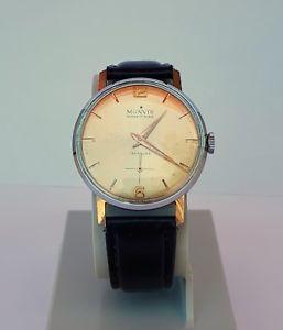 クロックヴィンテージorologio monvis ancre 17 rubis stellina vintage watch a carica manuale