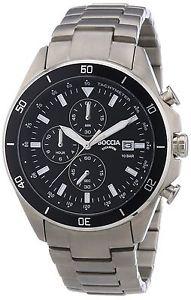 チタンカラーシルバーboccia 376201  orologio da polso uomo, titanio, colore argento i3f