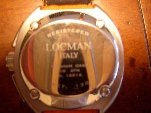 イタリアクロックマンオレンジlocman italy * orologio uomo * orange * anno 2005 come nuovo   look now