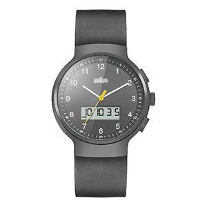 【送料無料】アナログbraun bn0159gygyg orologio da polso analogico, caucci, nero c3h