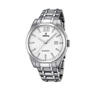 【送料無料】orologio solo tempo automatico uomo festina f168842 acciaio silver watch