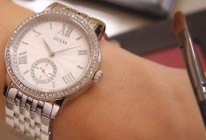 【送料無料】ダーメンウォッチb guess montre femme lady woman watch cristaux strass brillant damen uhr reloj