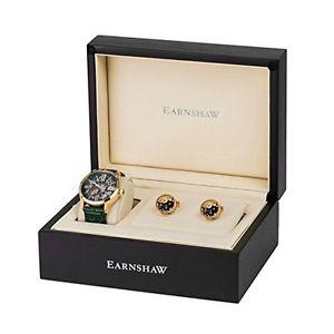 【送料無料】トーマスアーンショークロックthomas earnshaw, armagh es8037seta01, set con gemelli orologio da c9y