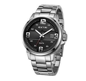【送料無料】クオーツステンレススチールextri da uomo orologio da polso al quarzo acciaio inossidabile x3010sa g6d