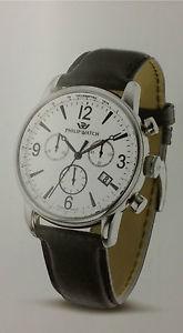 【送料無料】フィリップケントクロノグラフスチールスチールphilip watch kent cronografo acciaio e bianco r8271678001 acciaio e pelle data