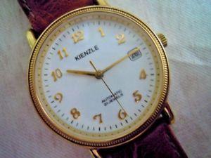 【送料無料】クロックorologio kienzle automatico placcato oro automatic watch