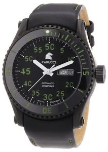 【送料無料】カルッチカラーcarucci watches ca2196bkgr orologio da polso, uomo, pelle, colore q9u
