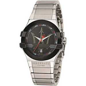 スチールクロックマンnuova inserzionemaserati watch orologio uomo data in acciaio potenza r8853108001