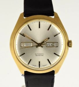 【送料無料】ティソtissot seastar automatic 1970 gold plated nos