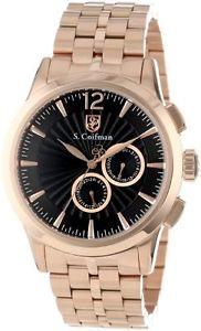 クロノグラフブレスレットscoifman sc0272 orologio da polso, display cronografo, uomo, bracciale e7v