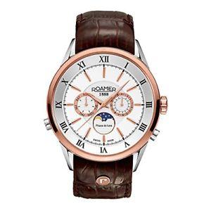【送料無料】スイスクロノグラフスキンローマーブランドブラウンmroamer of switzerland orologio da polso, cronografo, pelle, marrone m2s