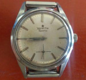 【送料無料】クロックマンマニュアルビンテージスチールzenith sporto orologio uomo manuale acciaio vintage bellissimo