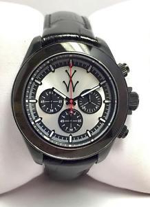 【送料無料】クロックマンシルバークロノorologio uomo toy watch chrono nero e argento tgl07bk nuovo