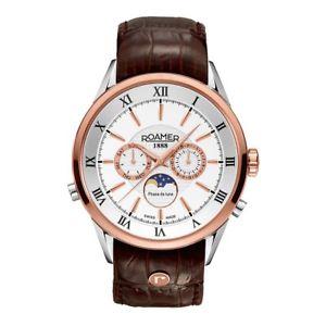 【送料無料】スイスクロノグラフスキンローマーブランドブラウンroamer of switzerland orologio da polso, cronografo, pelle, marrone k2a