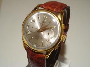 【送料無料】クロックorologio pryngeps chronographe 17 jewels cassa placcata oro