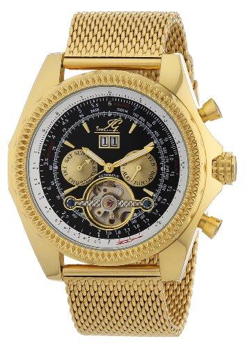 【送料無料】イングラハムイグカラーゴールドingraham ig pesc1222207 orologio da polso, uomo, colore oro