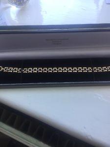 【送料無料】ブレスレット アクセサリ― ゴールドブレスレットイエローホワイトゴールド listing9ct gold bracelet yellow amp; white gold