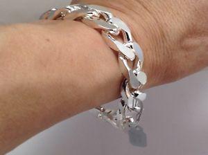 【送料無料】ブレスレット アクセサリ― ソリッドシルバーブランドメンズブレスレットグラムインチsolid silver chunky english hallmark brand mens bracelet 83 grams 9 inch