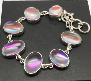 【送料無料】ブレスレット アクセサリ― オーラブレスレットソリッドスターリングシルバーmystic angel aura bracelet, solid sterling silver, , actual one, oval, uk