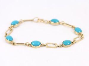 【送料無料】ブレスレット アクセサリ― テニスブレスレットゴールドレディース listingturquise tennis bracelet 9ct gold ladies stunning 375 61g bz45