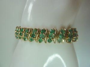 【送料無料】ブレスレット アクセサリ― エメラルドブレスレットnatural emerald 85ct bracelet