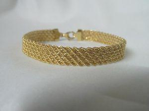 【送料無料】ブレスレット アクセサリ― ゴールドフラットロープブレスレット9ct gold flat rope 5 row bracelet