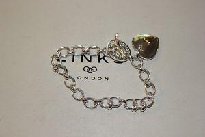 【送料無料】ブレスレット アクセサリ― ロンドンスターリングシルバーハートブレスレットリンク listinggenuine links of london sterling silver heart 20 cm charm bracelet bnib