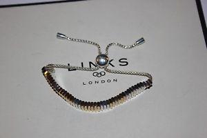【送料無料】ブレスレット アクセサリ― ロンドンシルバーリンクkイエローゴールドブレスレットgenuine links of london 925 silver amp; 18k yellow gold true friendship bracelet
