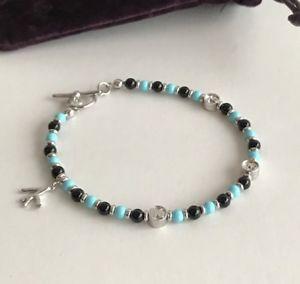 【送料無料】ブレスレット アクセサリ― シルバーオニキスターコイズブレスレットisaia silver, onyx and turquoise bracelet