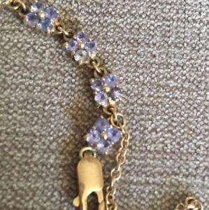 送料無料 ブレスレット アクセサリ― 9ctイェローゴールドチェーンアメジストセットノット94g9ct yellow gold chain bracelet amethyst flower set not scrap 94geWBrdCxo