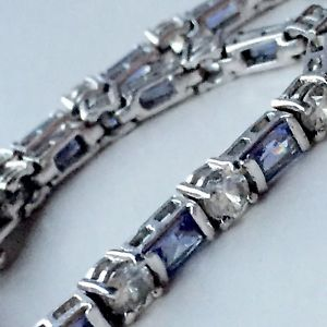 【送料無料】ブレスレット アクセサリ― ビンテージスターリングシルバーアメジストテニスブレスレットvintage 925 sterling silver amethyst tennis bracelet 136g 5mm 7 wedding gift