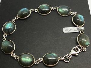 【送料無料】ブレスレット アクセサリ― ブレスレットソリッドスターリングシルバーlabradorite gemstone oval bracelet solid sterling silver, actual one 8