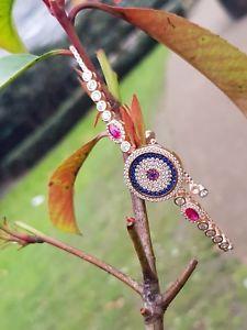 【送料無料】ブレスレット アクセサリ― ハンドメイドトルコサファイアトパーズスターリングシルバーブレスレットhand made turkish jewelry evil eye sapphire topaz 925 sterling silver bracelet