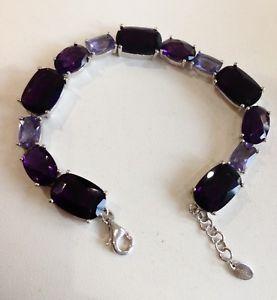 【送料無料】ブレスレット アクセサリ― アメジストブレスレットスターリングシルバー listingdesigner fiorelli amethyst bracelet sterling silver 925, 20cm length