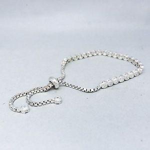 【送料無料】ブレスレット アクセサリ― スターリングシルバーホワイトストーンセットテニスブレスレットadjustable 925 sterling silver, white cz stone set prom tennis bracelet 8 b89