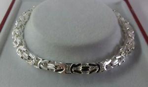 【送料無料】ブレスレット アクセサリ― ソリッドビザンチンブレスレットインチsterling silver gents solid byzantine bracelet 85 inch 197g hallmarked