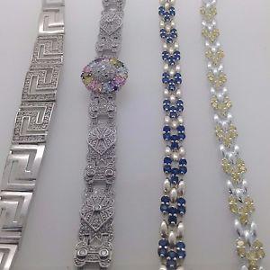 【送料無料】ブレスレット アクセサリ― スターリングシルバーブレスレットグラム925 sterling silver cz bracelet fully hallmarked 30 grams