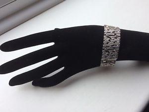 【送料無料】ブレスレット アクセサリ― ビンテージシルバーブレスレットvintage modernist silver bracelet