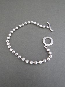 【送料無料】ブレスレット アクセサリ― ビンテージシルバーブールビーズブレスレットvintage silver boule beaded bracelet