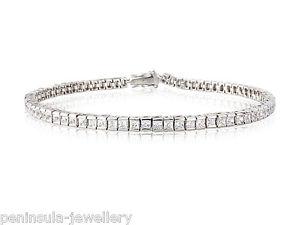 【送料無料】ブレスレット アクセサリ― スターリングシルバーテニスブレスレットボックスsterling silver 75 ladies tennis bracelet gift boxed hallmarked