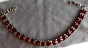 【送料無料】ブレスレット アクセサリ― ブレスレットルビーシルバーe186 bracelet real earth mined ruby 6 x 4 mm and cz 925 silver