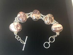 【送料無料】ブレスレット アクセサリ― スターリングシルバーハンドメイドジャスパートグルブレスレットグラムsterling silver 925 handmade jasper toggle bracelet 44 grams