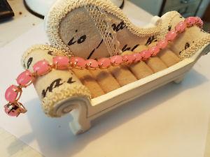 【送料無料】ブレスレット アクセサリ― ピンクヒスイテニスブレスレットローズスターリングシルバーchinese pink jade tennis bracelet set in rose gold over sterling silver 75