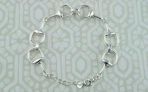 【送料無料】ブレスレット アクセサリ― スターリングシルバーホースビットブレスレット925 sterling silver horse bit snaffle bracelet