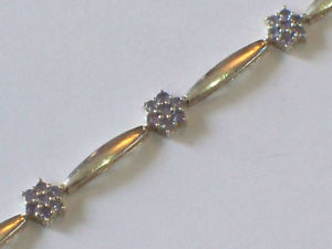 【送料無料】ブレスレット アクセサリ― シルバータンザナイトクラスターブレスレットsilver tanzanite cluster bracelet