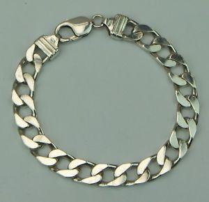 【送料無料】ブレスレット アクセサリ― スターリングシルバーリンクブレスレットインチsterling silver 925 heavy curb linked bracelet 85 inch hallmarked
